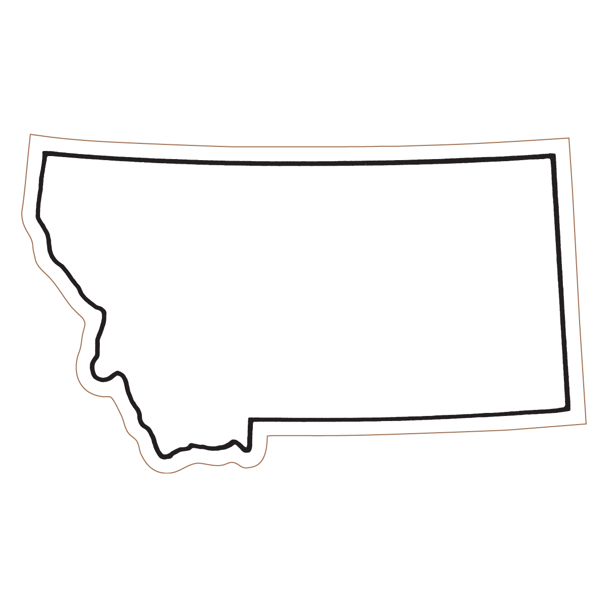 Clipart states outline montana svg freeuse stock Clipart states outline montana - ClipartFest svg freeuse stock