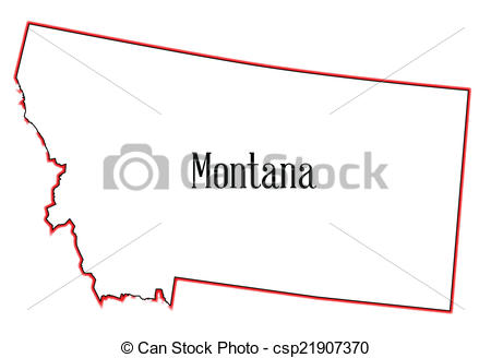 Clipart states outline montana clipart royalty free stock Vectors Illustration of Montana - Outline of the state of Montana ... clipart royalty free stock