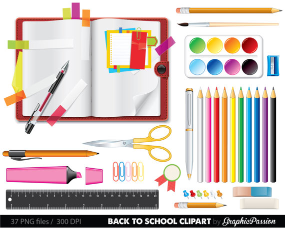Clipart stationary vector free library School clipart School clipart Back to school teacher clipart school ... vector free library