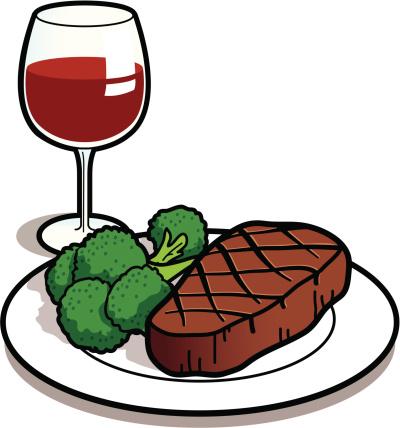 Clipart steak dinner graphic black and white Steak Dinner Cliparts | Free download best Steak Dinner Cliparts on ... graphic black and white