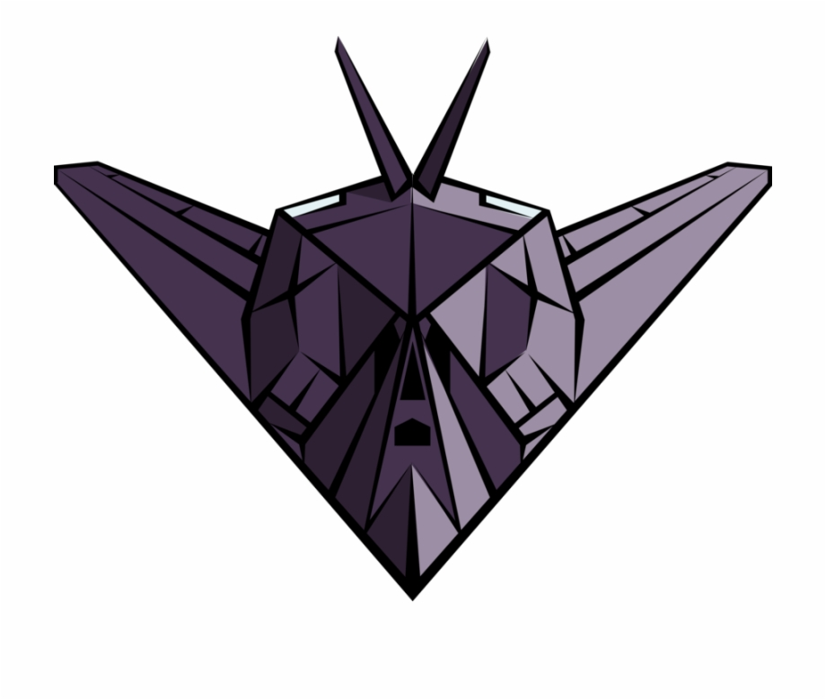 Clipart stealth image free Vector Illustration Of Stealth Bomber Military Jet - Stealth Bomber ... image free