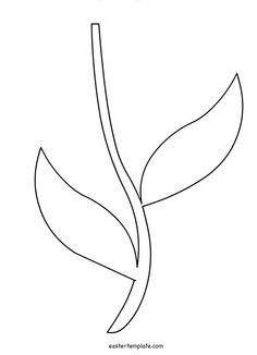 Clipart stem and leaf pattern black and white clip art free library Printable Flower Stem Template | pre-k ... | Cricut | Flower ... clip art free library
