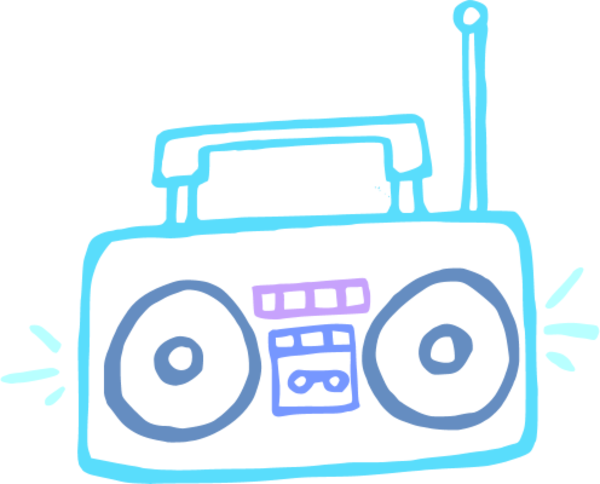 Clipart stereo clip freeuse stereo radio cassette tape | Clipart Panda - Free Clipart Images clip freeuse