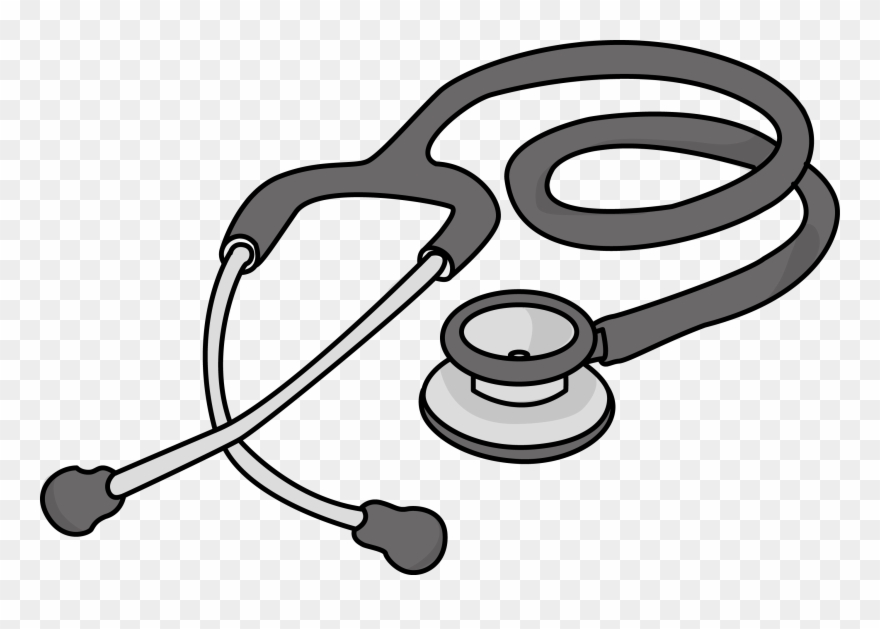 Clipart stesicop clip black and white library Cardiology Cliparts - Stethoscope Clipart Png Transparent Png ... clip black and white library
