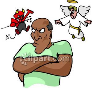Clipart stick figure planning business shoulder devil svg transparent A Man with a Devil Over One Shoulder and an Angel Over the Other ... svg transparent