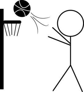 Clipart stick figures sports banner transparent Basketball Clipart Image: Clip art Illustration of a Stick Figure ... banner transparent