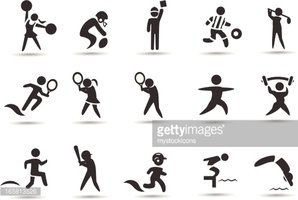 Clipart stick figures sports jpg black and white download Sports Stick Figures stock vectors - Clipart.me jpg black and white download