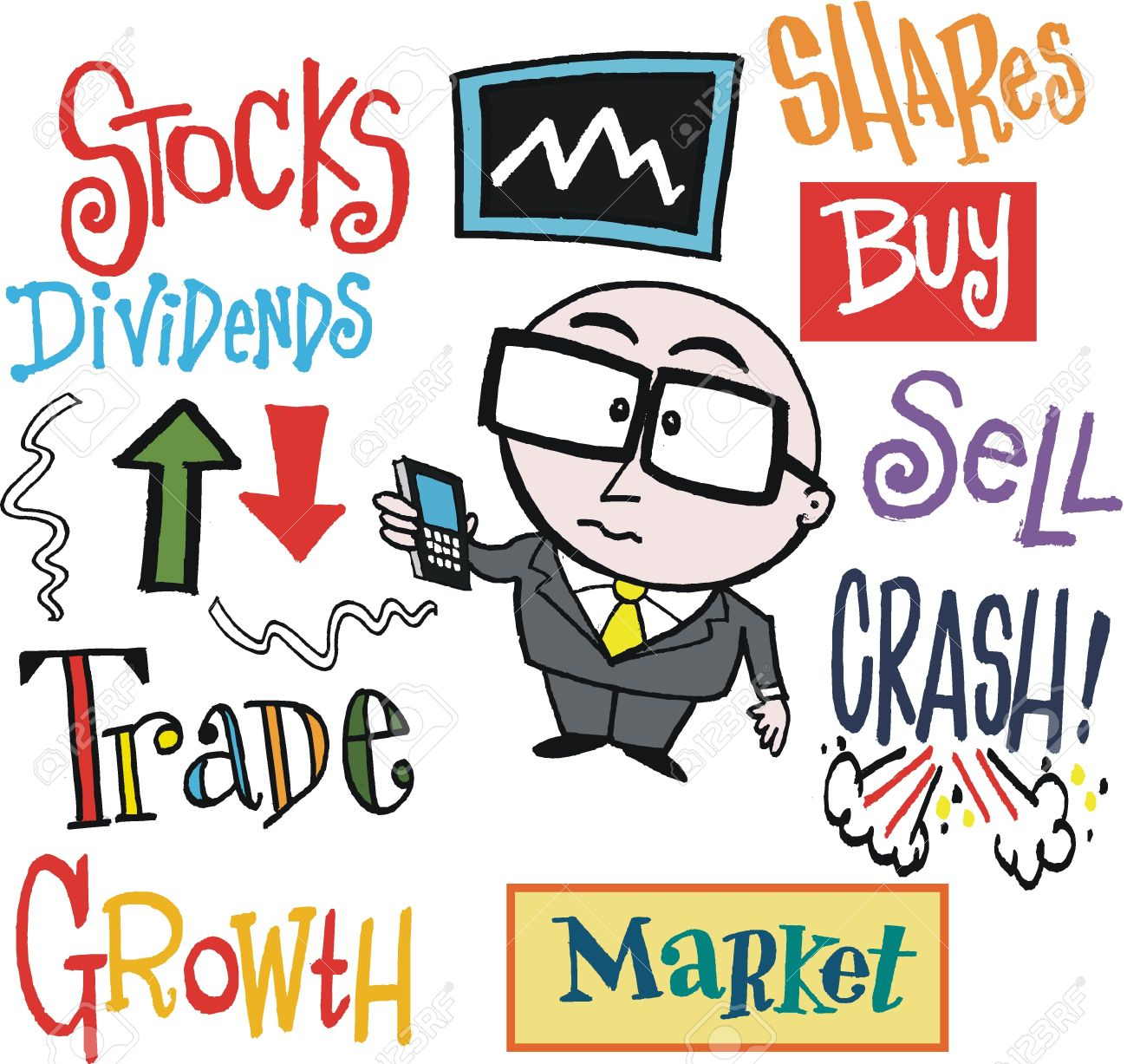 Clipart stock exchange graphic free download Stock exchange clip art - ClipartFest graphic free download