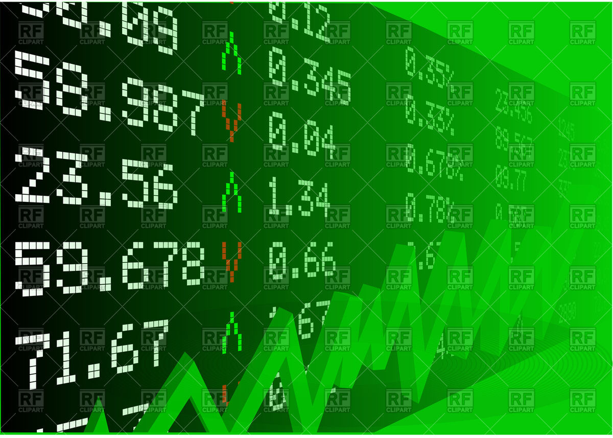 Clipart stock market graph banner freeuse download Stock market with numbers and green graph Vector Image #96665 ... banner freeuse download