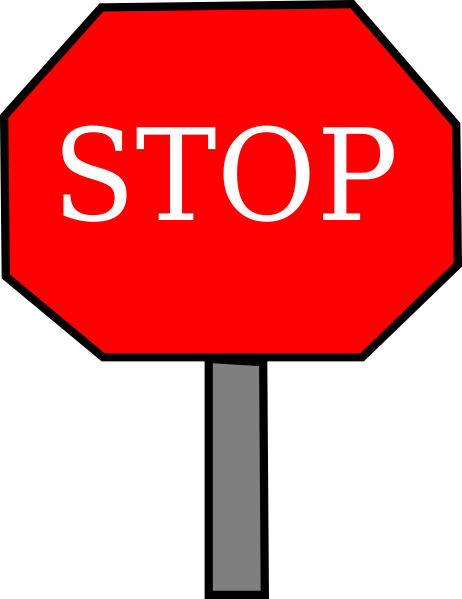 Stop sign clipart vector. Free cliparts signs