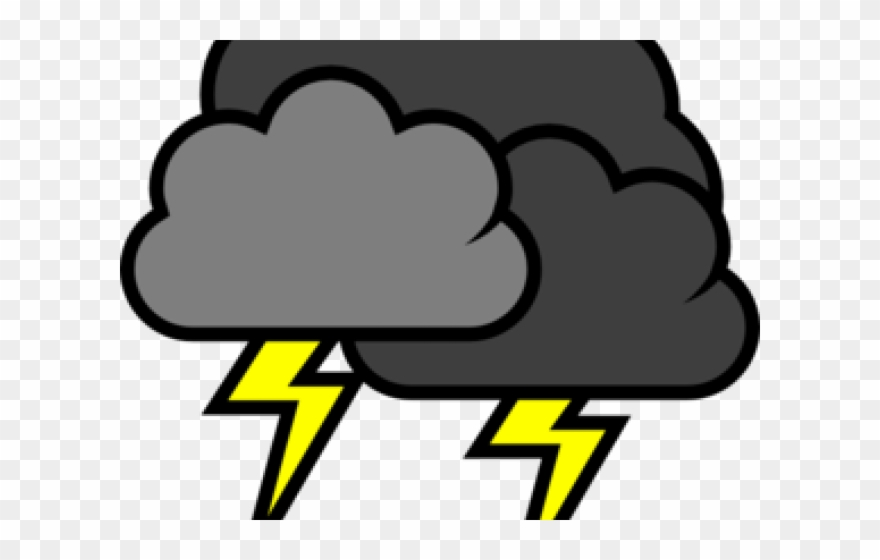 Clipart storm svg royalty free Thunderstorm Cliparts - Storm Cloud With Lightning Clipart - Png ... svg royalty free