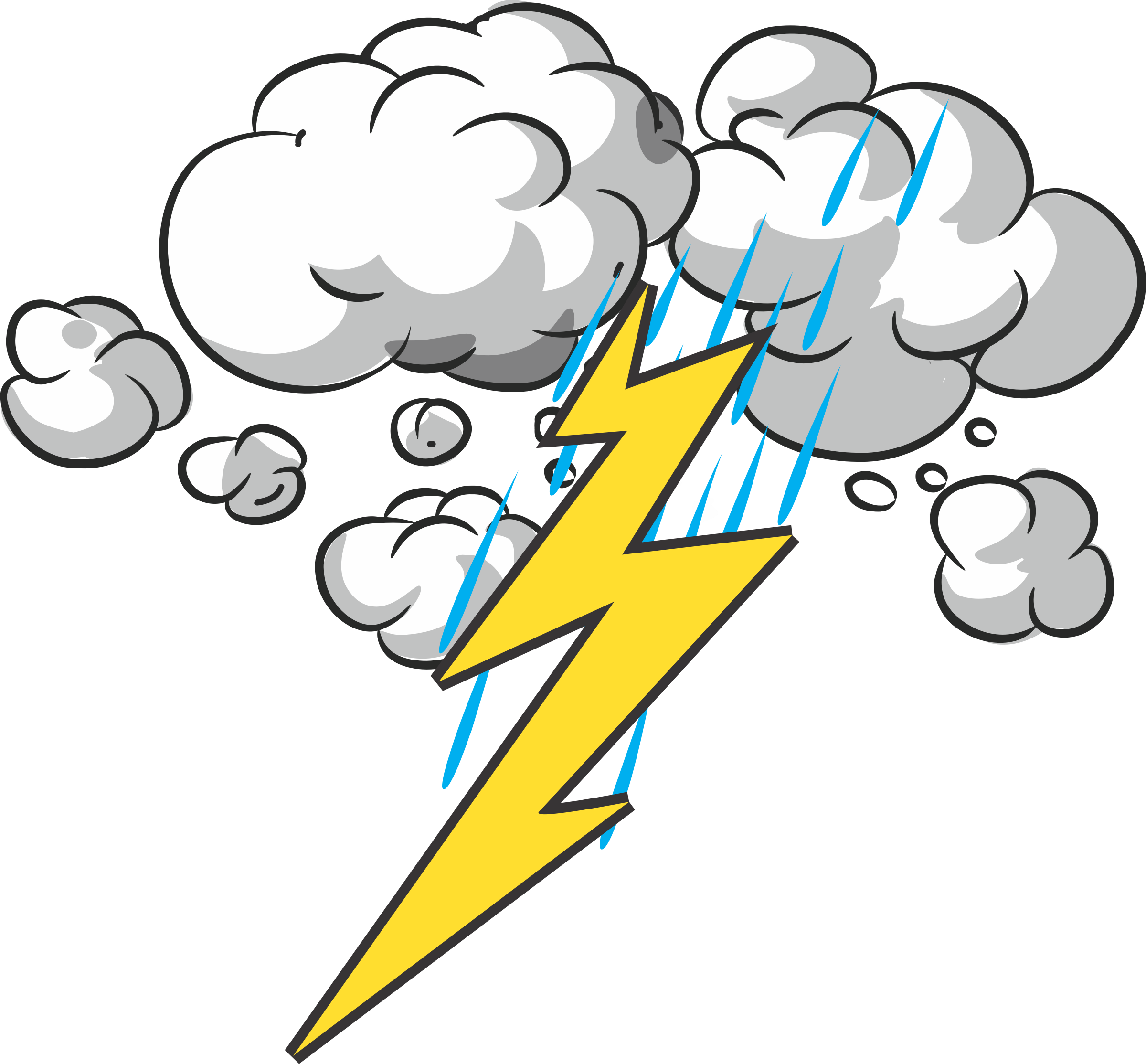 Clipart storm clip art Thunder Clipart Storm - Cartoon Thunder And Lightning , Transparent ... clip art