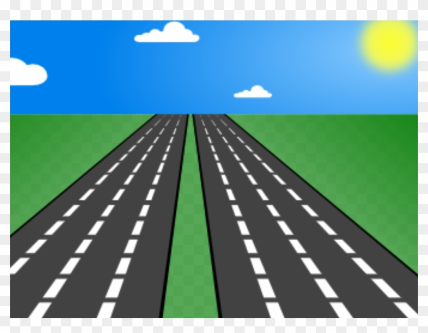 Clipart straight vector Clipart Road Straight Road - Road Clip Art, HD Png Download ... vector