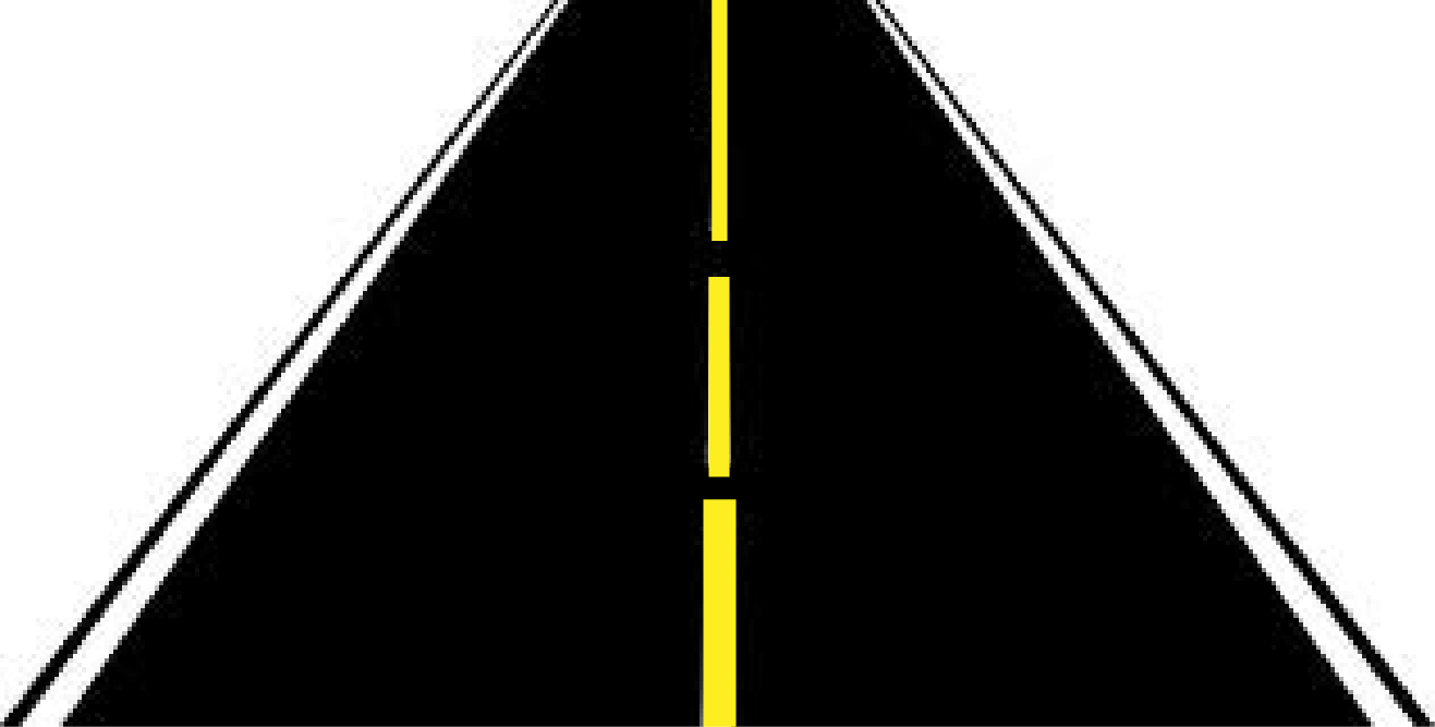 Clipart straight road graphic black and white Straight Road Cliparts - Cliparts Zone graphic black and white