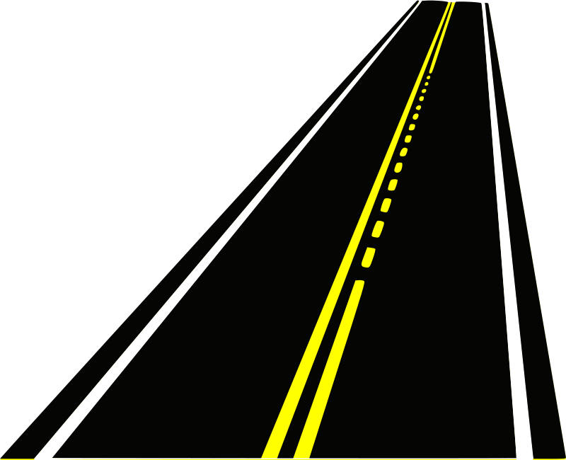 Clipart straight road picture black and white Gallery for a straight road clipart - Clipartable.com picture black and white
