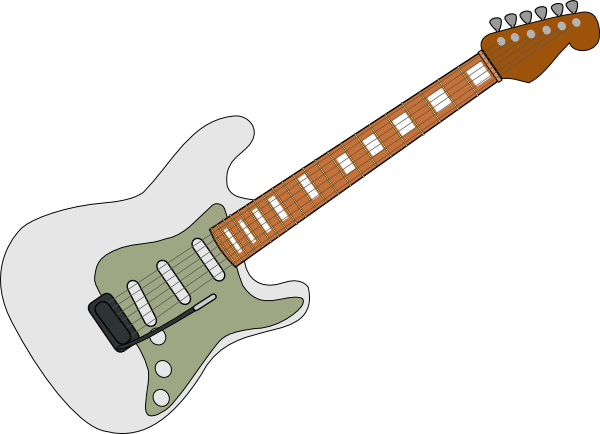 Fender guitar clipart png transparent stock White Fender Strat Clip Art at Clker.com - vector clip art online ... png transparent stock
