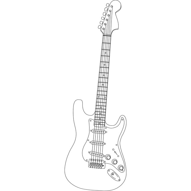 Clipart stratocaster banner freeuse library STRATOCASTER OUTLINE VECTOR - Free vector image in AI and EPS format. banner freeuse library