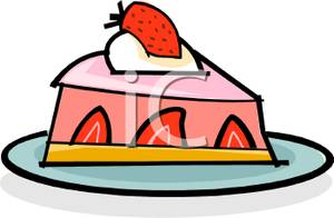 Clipart strawberry pie clip royalty free A Slice Of Strawberry Pie - Royalty Free Clipart Picture clip royalty free