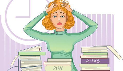 Clipart stressed out woman picture library stock Stress Can Lead To Disability Later In Life | Prevention picture library stock