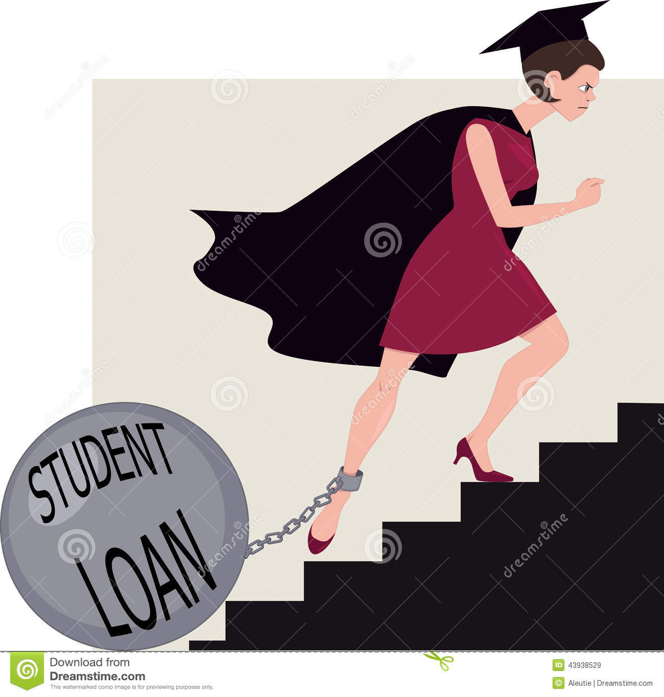 Clipart student loan freeuse library Student Loan Burden Stock Vector - Image: 43938529 freeuse library