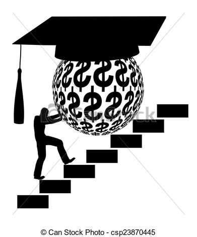 Clipart student loan transparent stock Drawing of Student Loan - Concept sign of the financial burden of ... transparent stock
