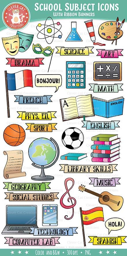 Subjects in spanish clipart clip royalty free stock School Subjects Clip Art - Icons | AWESOME clip art and fonts ... clip royalty free stock