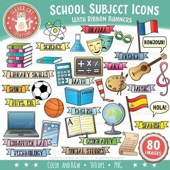 Clipart subjects image royalty free School Subjects Clip Art - Icons image royalty free