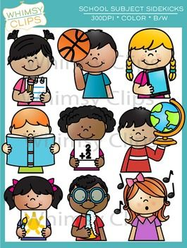 Clipart subjects royalty free Sidekicks School Subjects Clip Art | First Grade | School subjects ... royalty free