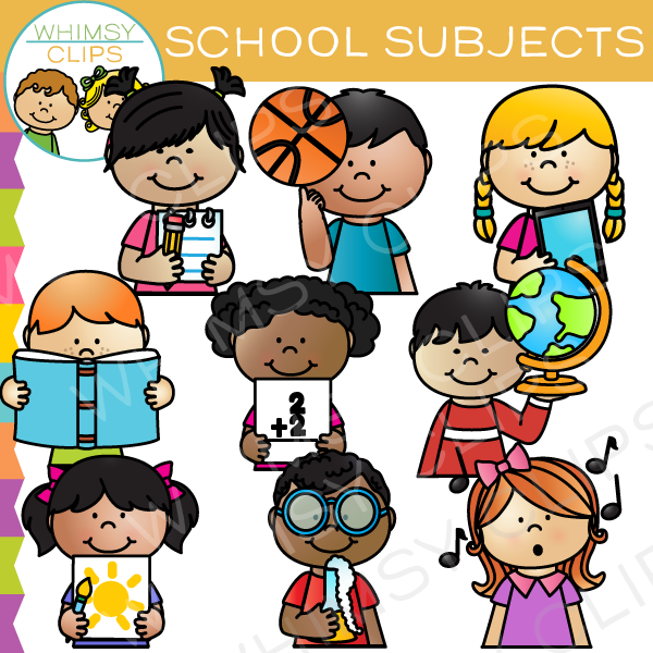 Clipart subjects png transparent library School Subject Sidekicks Clip Art png transparent library