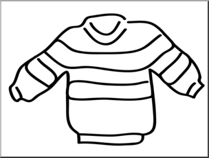 Clipart sueter png freeuse download Clip Art: Basic Words: Sweater B&W Unlabeled I abcteach.com | abcteach png freeuse download