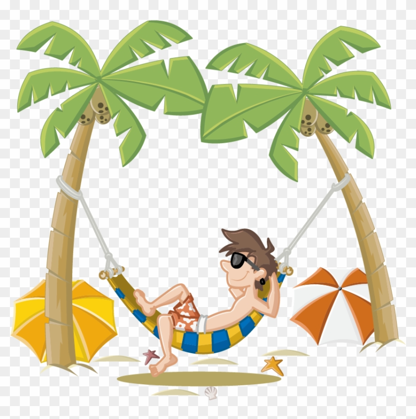 Summer holiday pictures clipart jpg transparent download Summer Holiday Beach Cartoon Free Photo Png Clipart - Hammock On ... jpg transparent download
