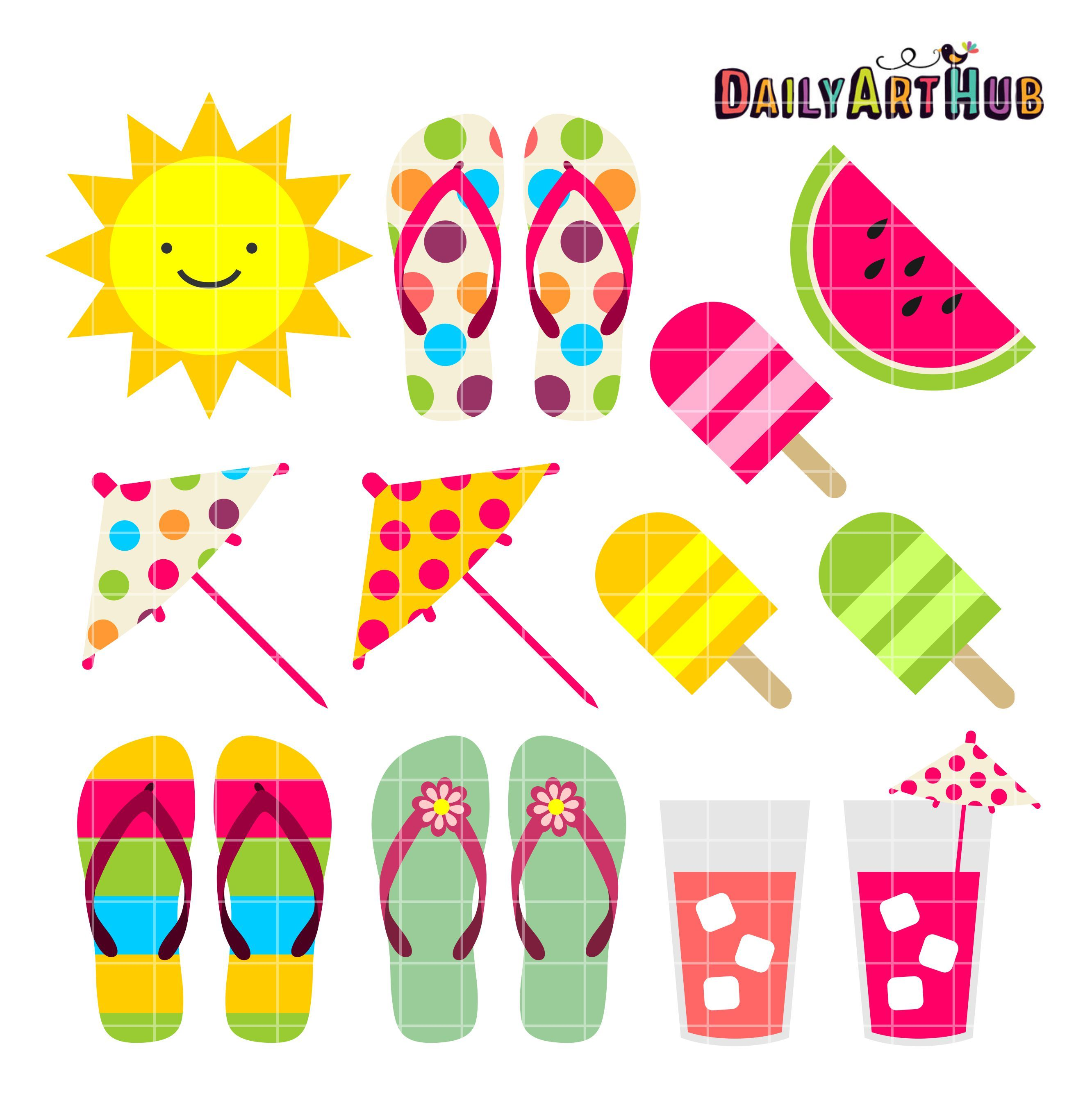 Clipart summer pictures free stock Summer Things Clip Art Set | Daily Free Art Sets | Art hub, Clip art ... free stock
