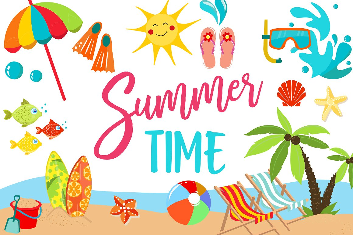 Clipart summer pictures clip art royalty free stock Summer Clipart Bundle - 126 cliparts clip art royalty free stock