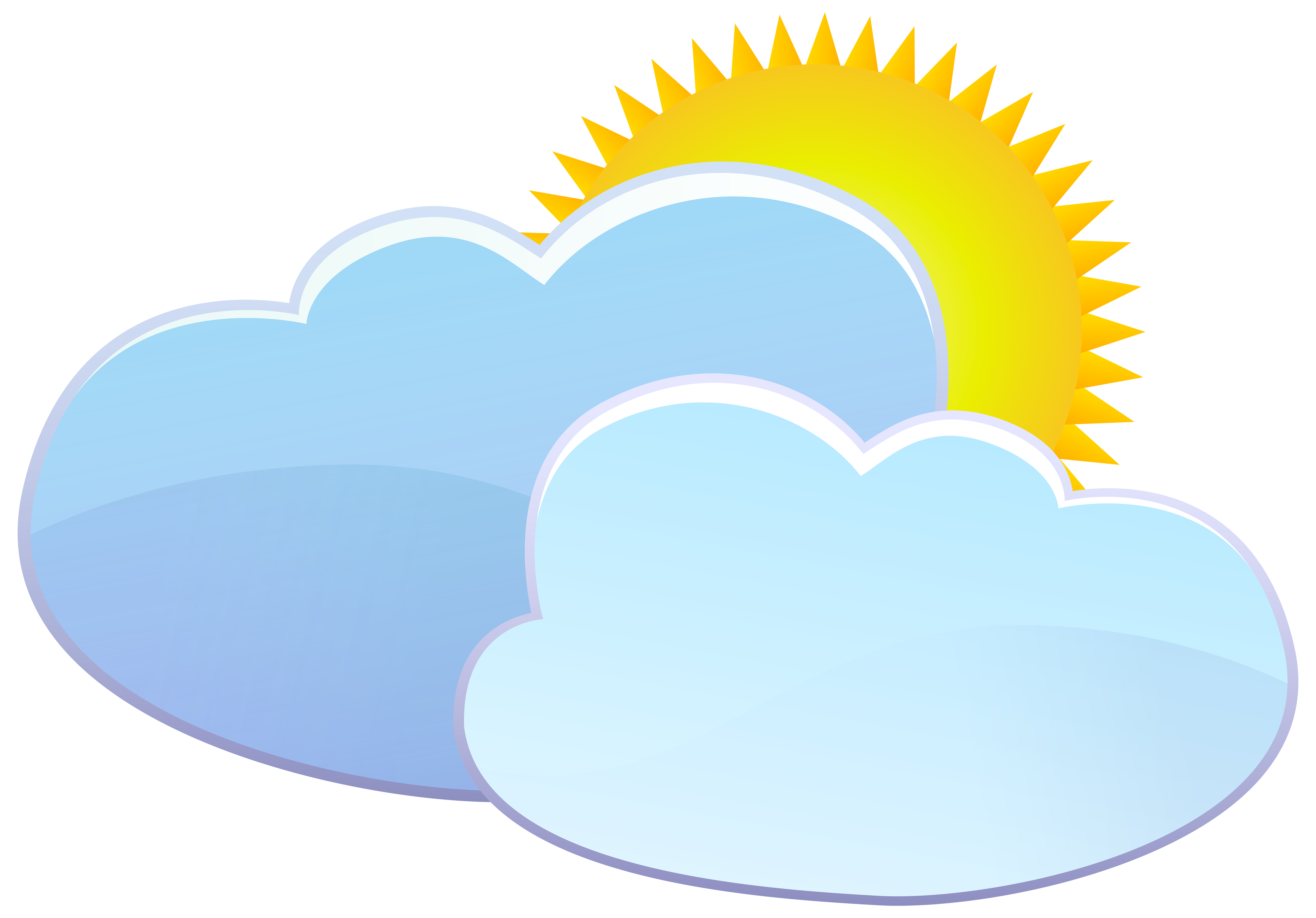 Summer sun and cloud clipart png royalty free Clouds and Sun Weather Icon PNG Clip Art - Best WEB Clipart png royalty free