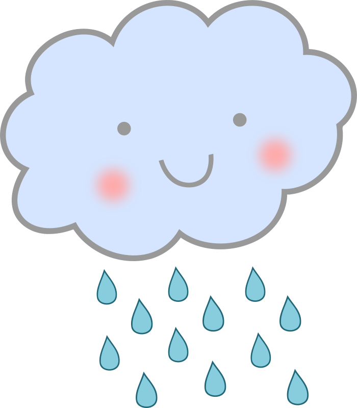 Rain sun clipart clipart black and white stock Rain Cloud Clipart at GetDrawings.com | Free for personal use Rain ... clipart black and white stock