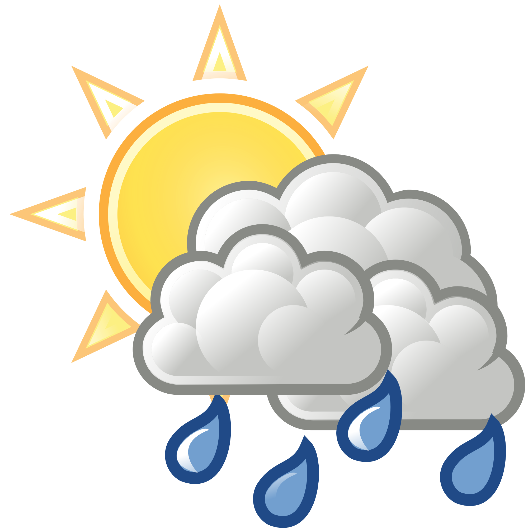 Rain sun clipart picture transparent stock File:Weather-sun-clouds-some-rain.svg - Wikimedia Commons picture transparent stock