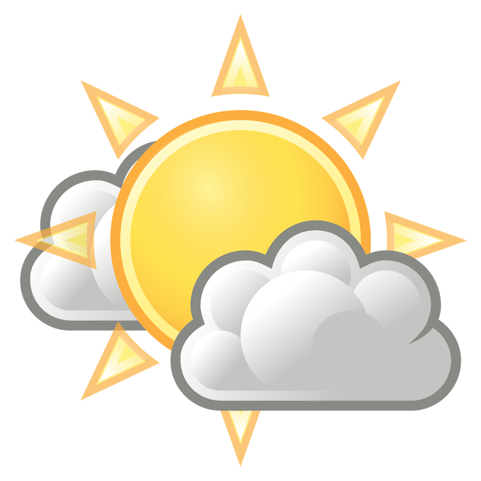 Sun with clouds infront clipart royalty free library Weather | Free Stock Photo | Illustration of the sun with clouds ... royalty free library