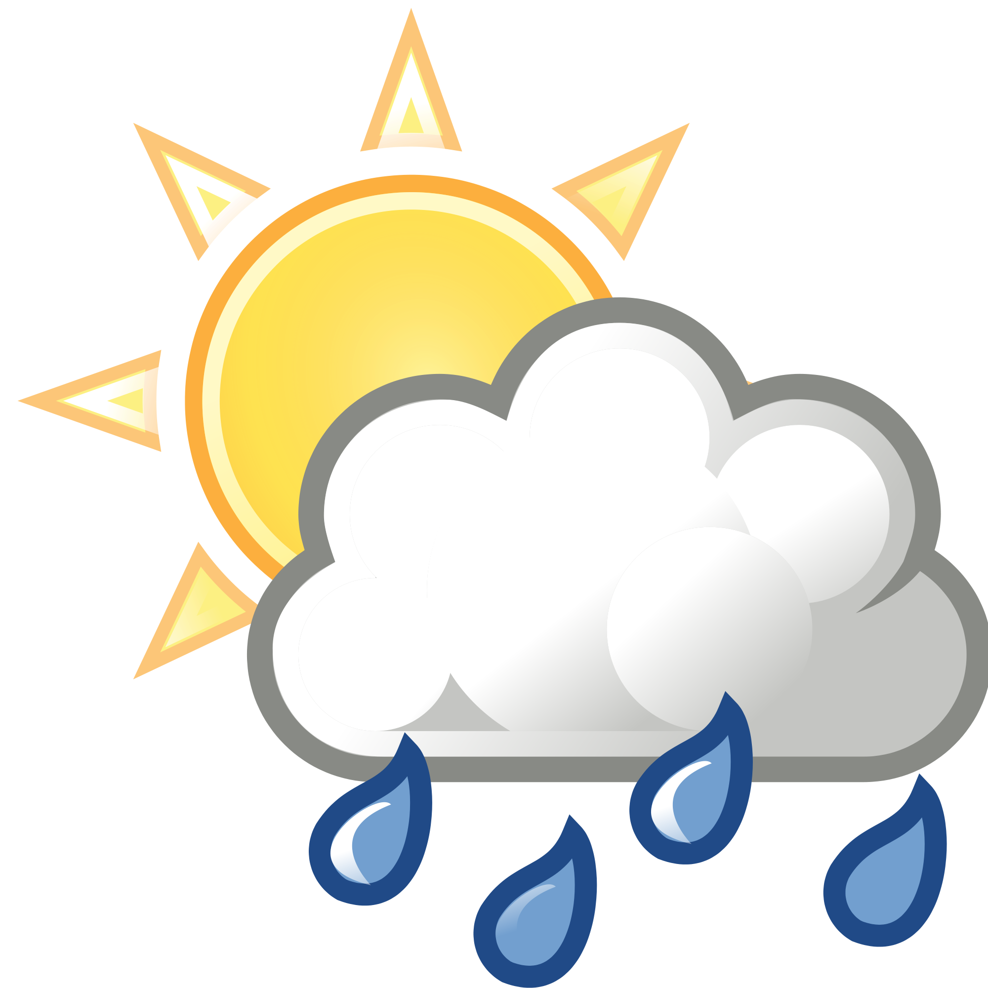 Sun with clouds infront clipart graphic library File:Weather-sun-clouds-rain.svg - Wikimedia Commons graphic library