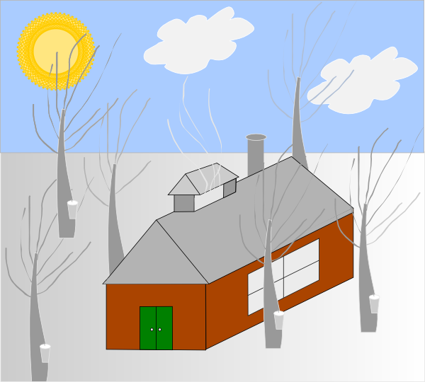 House with sun clipart png stock House Trees Sun Snow Clip Art at Clker.com - vector clip art online ... png stock