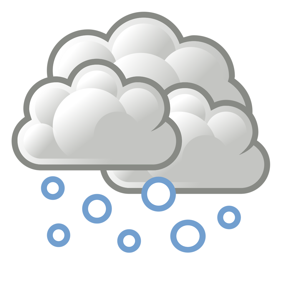 Clipart sun and snow picture freeuse stock Weather | Free Stock Photo | Illustration of a stormy cloud with ... picture freeuse stock