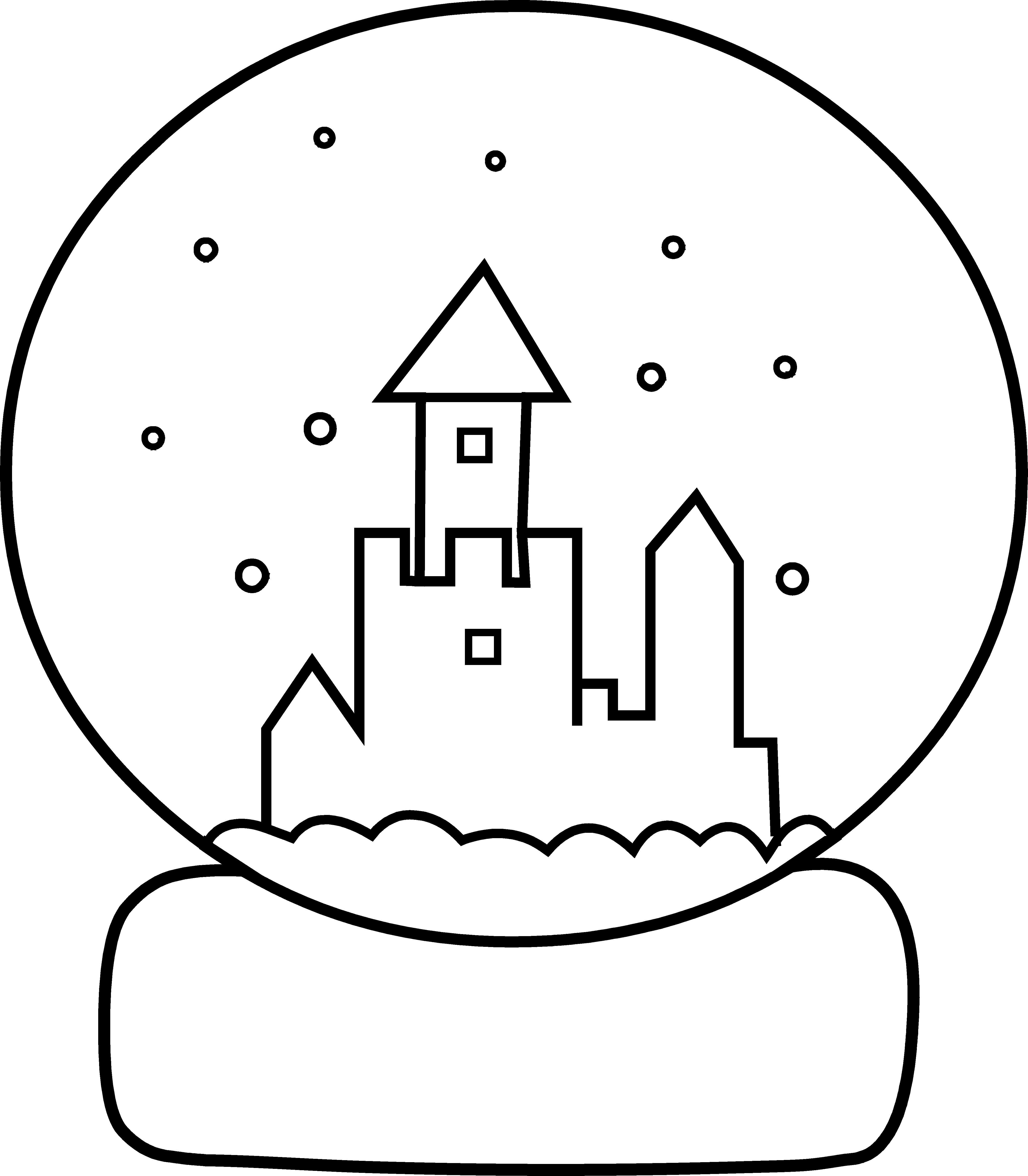 Clipart sun and snow banner transparent Cute Snow Globe Coloring Page - Free Clip Art banner transparent
