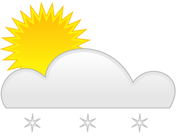 Weather sun clipart svg black and white Weather Clipart - Graphics of Wind, Storms, Sun and Rain svg black and white