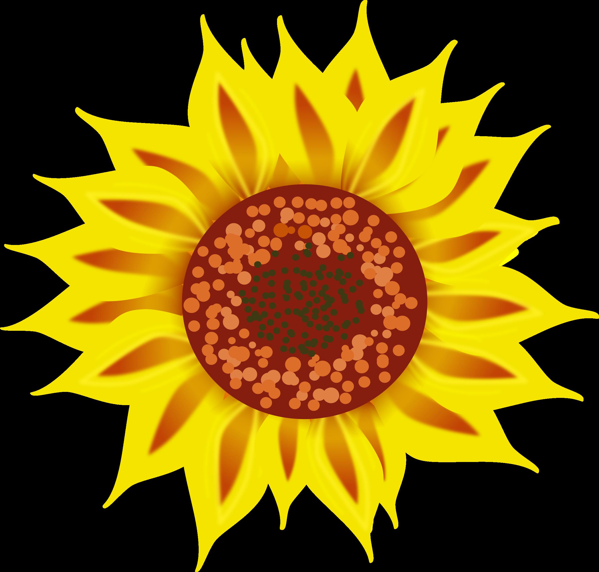 Clipart sun flower vector black and white library Clipart - Sunflower vector black and white library