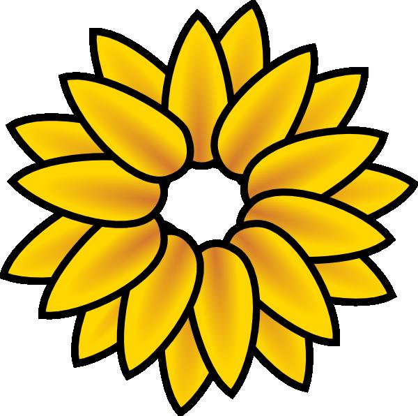 Clipart sun flower vector black and white library Sunflower Clip Art Free Printable | Clipart Panda - Free Clipart Images vector black and white library