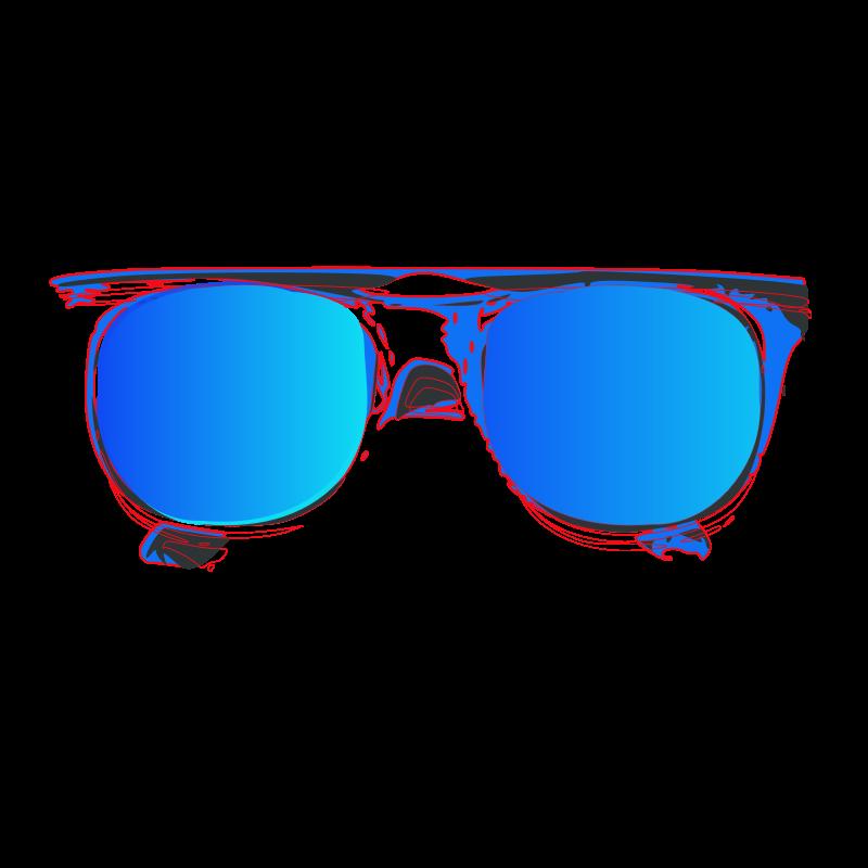 Clipart sun glasses image black and white download Clip Art Sunglasses Blue Image - 3862 - TransparentPNG image black and white download