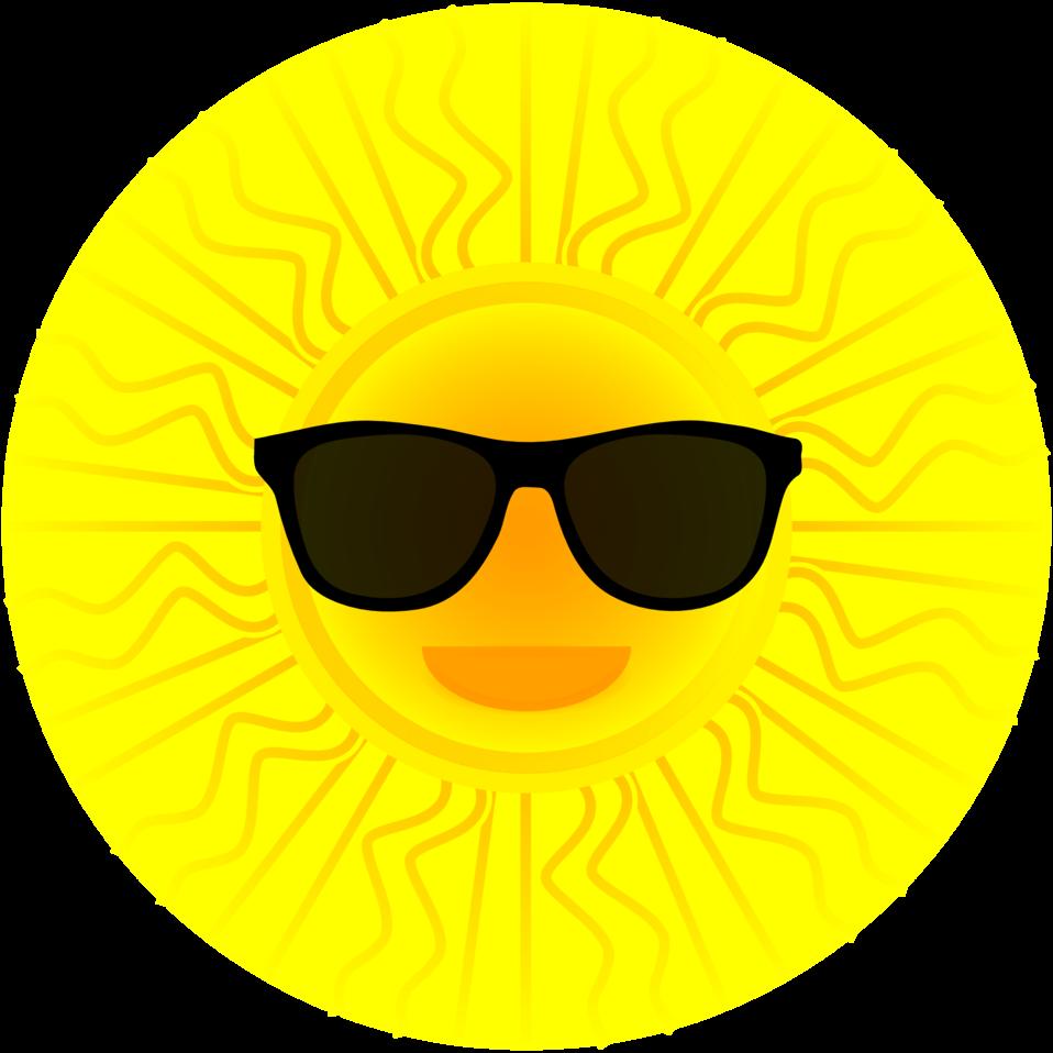 Clipart sun glasses image library Public Domain Clip Art Image | Sun with sunglasses | ID ... image library