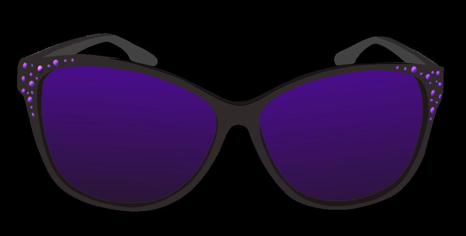 Clipart sun glasses transparent library Public Domain Clip Art Image | Purple sunglasses | ID ... transparent library
