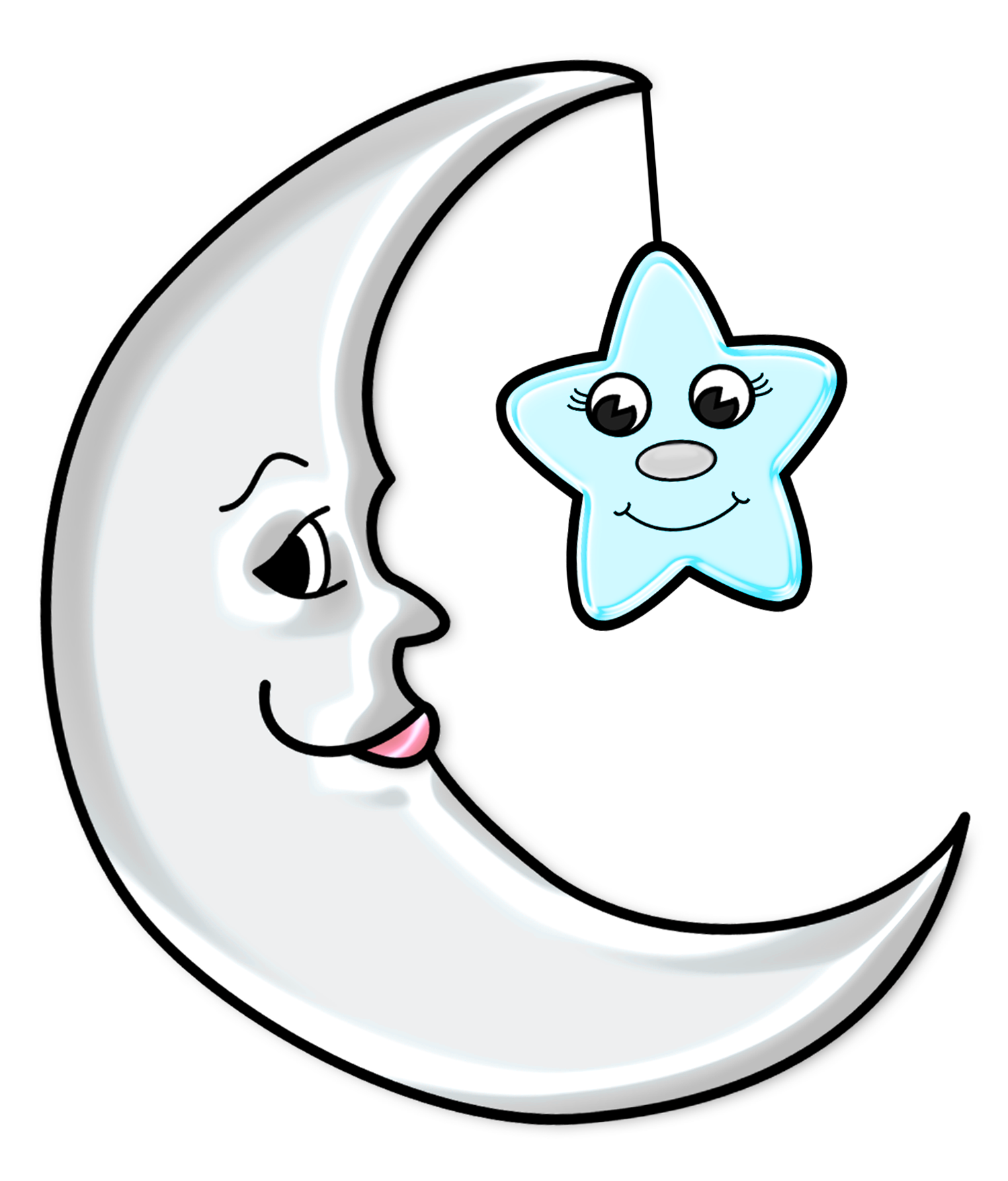 Earth moon sun clipart jpg stock 28+ Collection of Cute Moon Clipart | High quality, free cliparts ... jpg stock