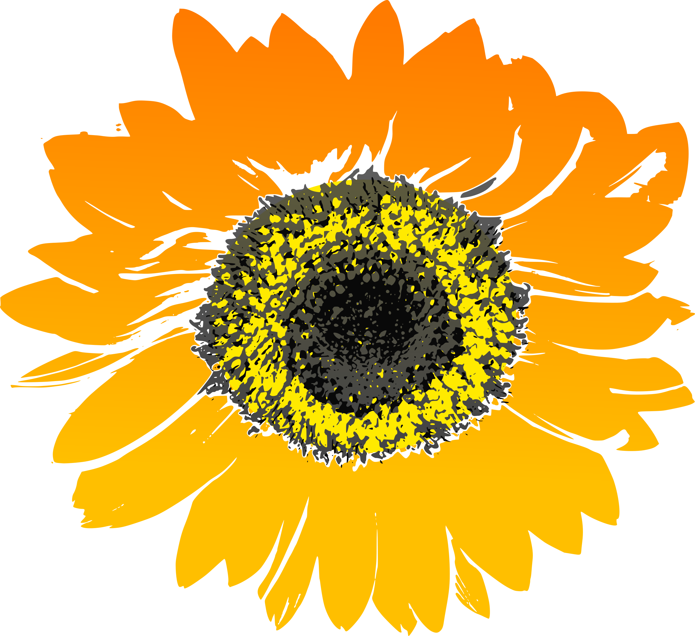 Seed and sun clipart image freeuse Clipart - Sunflower image freeuse