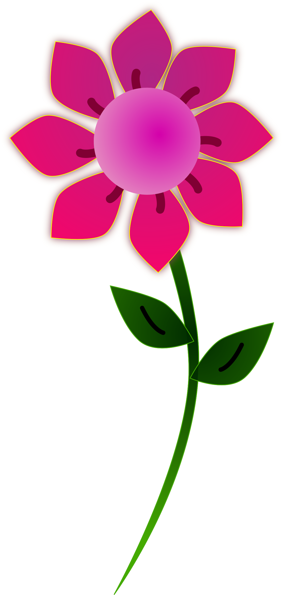 Clipart sun on flowers clipart library stock Clipart - Pink Sun Flower clipart library stock